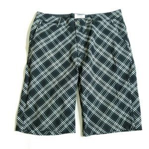 Hurley Black Plaid Shorts